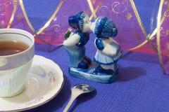 Romântico azul imagens de stock royalty free