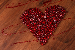 Romã do coração de Copmposition Imagens de Stock Royalty Free