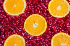 Romã e laranja Imagem de Stock Royalty Free