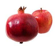 Romã e maçã, frutos fotografia de stock royalty free