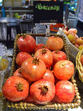 Romã suculenta grande fresca Fotografia de Stock Royalty Free