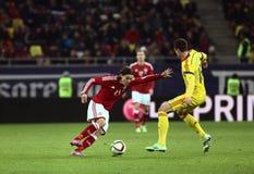 Romênia contra Dinamarca Fotografia de Stock Royalty Free