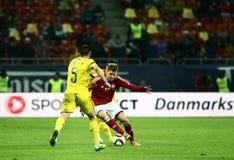 Romênia contra Dinamarca Fotos de Stock Royalty Free