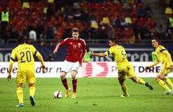 Romênia contra Dinamarca Imagens de Stock