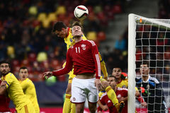 Romênia contra Dinamarca Fotografia de Stock