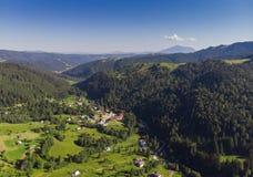 Romênia, ideia aérea da paisagem de Moldávia Foto de Stock Royalty Free