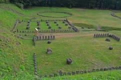 Romênia: Ruínas de Dacian de Sarmisegetuza Regia imagem de stock