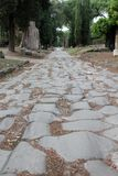 """Rom-†""""über Römerstraße Appia Antica auf den Stadtränden der Stadt Stockbild"""