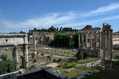 Rom, über dei Fori Imperiali stockfotografie