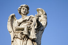 Rom - Angel with the whips - Angels bridge Royalty Free Stock Photo