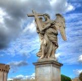 Rom angelo castel статуи sant, Италия Стоковое фото RF