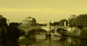 Rom - Ansicht von Castel Sant'Angelo Stockbild