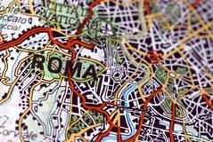 Rom auf der Karte Stockbild