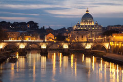 Rom - Basilika der Engel Brücke und Str. Peter s Stockbilder
