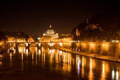 Rom bis zum Nacht Stockfoto