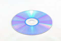 ROM CD isolata su bianco Fotografia Stock