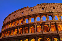 Rom Colosseum by night. Rom, the Colosseum by night Stock Photo