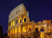 Rom Colosseum by night Royalty Free Stock Images