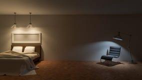 ROM da cama 3d Imagens de Stock Royalty Free