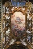 Rom - das Deckenfresko Triumph der Jungfrau in Kirche Chiesa-Di Santa Maria-della Lizenzfreies Stockfoto