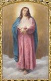 Rom - das Herz von Jesus Christi-Farbe in Kirche Chiesa-Di Santa Maria ai Monti durch T Tarenghi (1910) lizenzfreie stockfotos