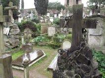 Rom der nicht katholische Kirchhof stockbild