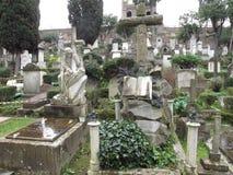 Rom der nicht katholische Kirchhof stockfotografie