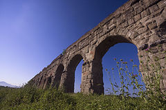 Rom: der Park von Aquädukten Stockbilder