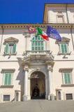 Rom, der Wohnsitz von Präsidenten, das Quirinale Lizenzfreie Stockfotografie