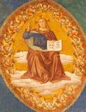 Rom - Detail des Freskos von Christus Pantokrator von der Apsis von Santa Croce in Gerusalemme-Kirche Lizenzfreie Stockfotos