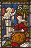 Rom - die Inspiration von Johannes der Apostel auf der Fensterscheibe aller Heilige ` anglikanischen Kirche durch Arbeitsraum Cla Lizenzfreies Stockbild