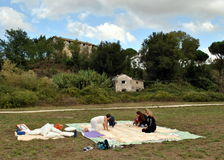 Rom - dritter Sonntag des Picknicks Stockfoto