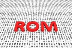 ROM. In the form of binary code, 3D illustration Stock Images