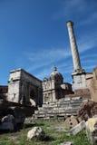 Rom - Forum Romanum Stockfoto
