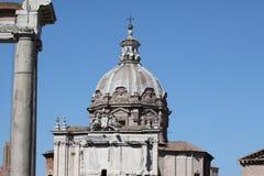 Rom, Haube von Santi Luca e Martina Church Lizenzfreie Stockfotos