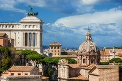 Rom-historische Mittelskyline Lizenzfreie Stockfotografie
