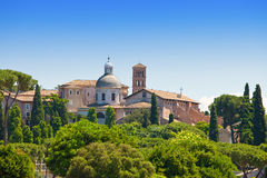 Rom. Italien. Ansicht vom Palatine-Hügel. Stockfoto