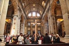 Rom, Italien - 10. April 2016: Groupe von Pilgern besuchen St. Stockfoto