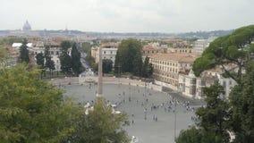 Rom, Italien, enormes Quadrat mit Touristen stockbild