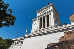 ROM, ITALIEN - 23. JUNI 2017: Überraschende Ansicht des Altars des Vaterland Altare-della Patria, bekannt als das Nationaldenkmal stockfoto