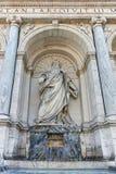ROM, ITALIEN - 22. JUNI 2017: Erstaunliche Ansicht des Brunnens von Moses Fountain Acqua Felice in der Stadt von Rom Stockbilder