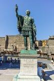 ROM, ITALIEN - 23. JUNI 2017: Erstaunliche Ansicht von Augustus Forum und von Statue in der Stadt von Rom Stockbilder