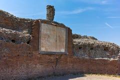 ROM, ITALIEN - 24. JUNI 2017: Panoramablick von Ruinen in Palatine-Hügel in der Stadt von Rom Lizenzfreie Stockfotos