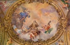 ROM, ITALIEN - 9. MÄRZ 2016: Das Fresko der Ruhm der Engel durch Ludovico Gimignani u. x28; 1695 - 1696& x29; Lizenzfreie Stockbilder