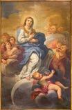 ROM, ITALIEN - 9. MÄRZ 2016: Die Malerei der Unbefleckten Empfängnis in der Kirche Chiesa di San Silvestro in Capite durch Lucovi Stockfoto