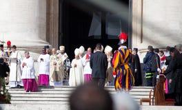 Die Zeremonie Papst-Francis At His Installation Stockbilder