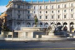 Rom, Italien - 24. November, Rom-Stadtleben Ansicht von Rom-Marktplatz della Reppublica am 24. November 2015, Rom Stockbild