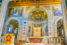 ROM, ITALIEN 10. OKTOBER 2017: Der Innenraum der Basilika von Stockfoto