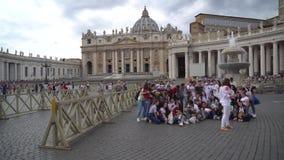 Rom, Italien 23 06 2018: St. Peters Square, Vatikanstadt stock video