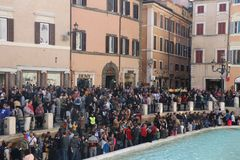 Rom, Italien - Trevi-Brunnenmonument lizenzfreies stockfoto